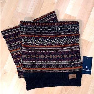 BEN SHERMAN ORIGINAL FAIRISLE Knitted Scarf - NEW